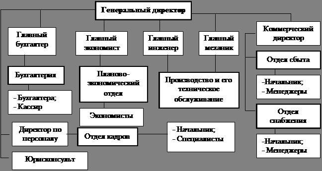 Схемы организационной структуры экономического субъекта
