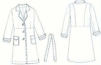 Выбор материалов для женского демисезонного пальто - Промышленность, производство