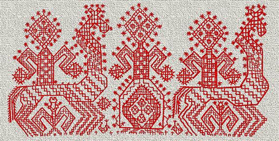 Русская народная вышивка одежды