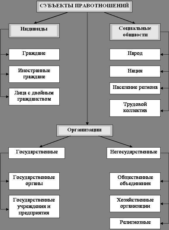 курсовая работа Субъекты правовых отношений  Курсовая работа по теме субъекты правоотношений