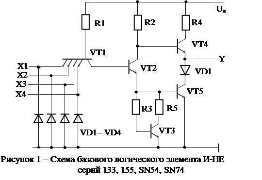 Схемная реализация логических элементов И-ИЛИ